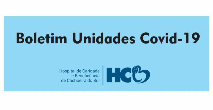 BOLETIM DIÁRIO – COVID -19 – HCB – CACHOEIRA DO SUL – RS