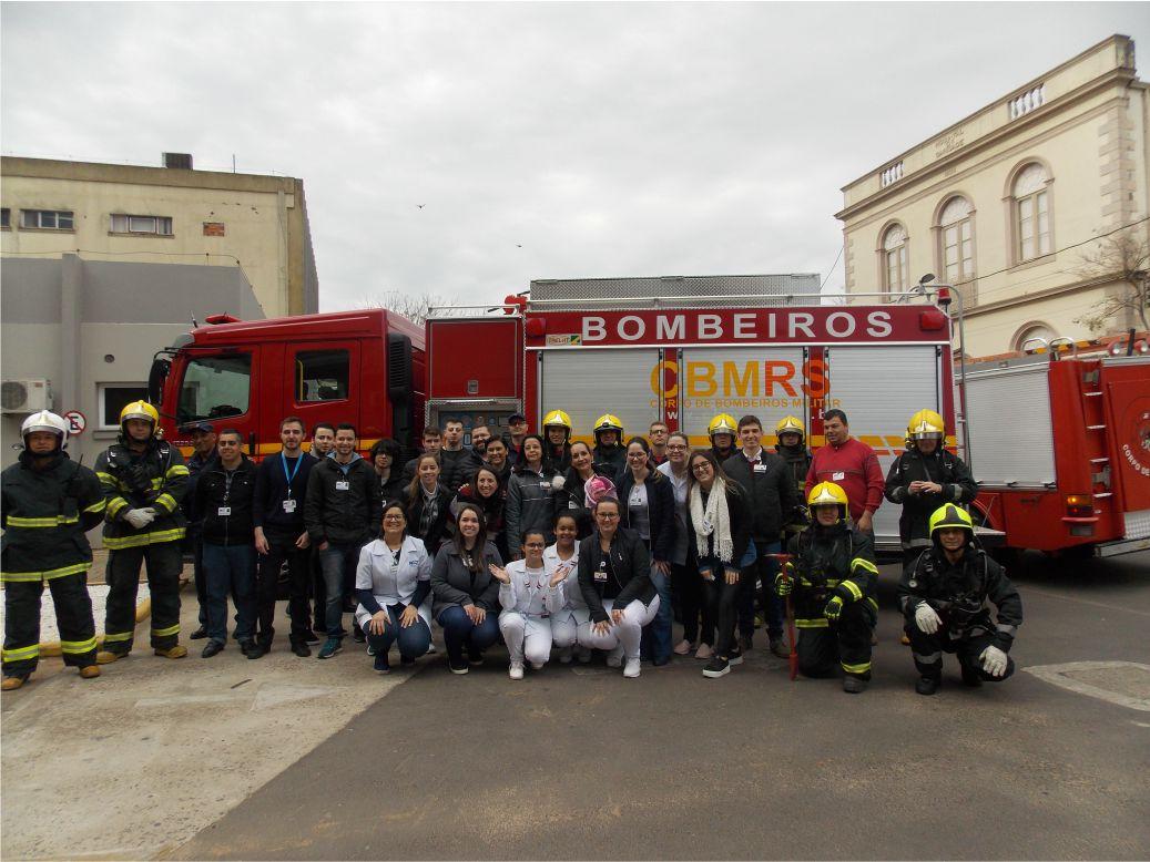 HCB realiza simulação de incêndio com a participação dos Bombeiros
